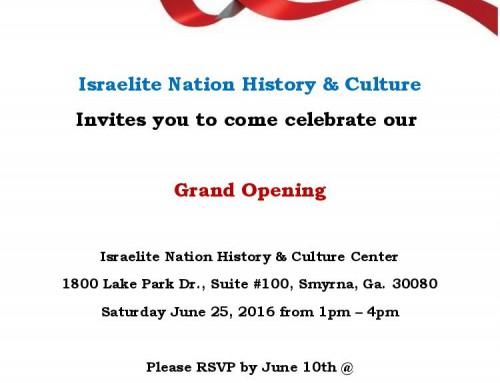 Israelite Nation Atlanta – Grand Opening